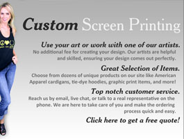 Custom Greek Threads Screen Printing Landing Page Design
